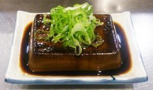 小鉄 小岩 立川たれ豆腐写真